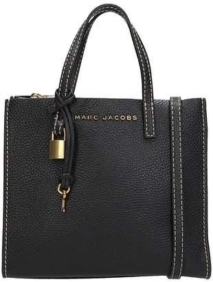 Marc Jacobs Grind Shopper Bag In Black Leather