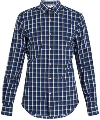 Boglioli Point-collar checked-print cotton shirt