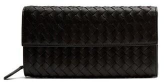 Bottega Veneta Intrecciato Continental Leather Wallet - Womens - Black