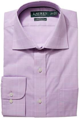 Lauren Ralph Lauren Classic Fit No-Iron Cotton Dress Shirt Men's Long Sleeve Button Up