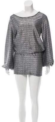 Alexis Metallic Knee-Length Dress
