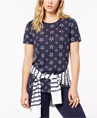 Tommy Hilfiger Star-Print T-Shirt, Created for Macy's