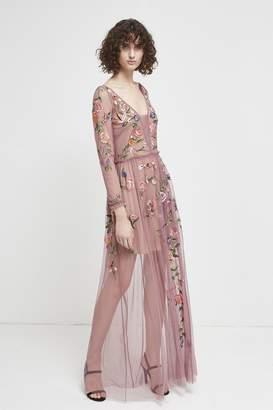French Connection Katalina Sheer Maxi Dress