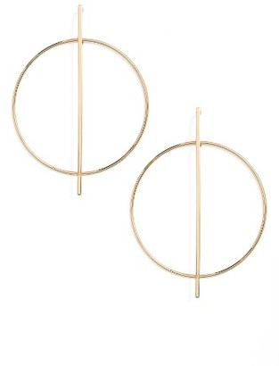 Women's Nordstrom Open Circle Frontal Hoop Earrings $29 thestylecure.com