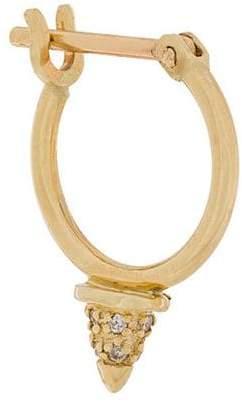Otiumberg 9kt gold tiny spike diamond hoop earring