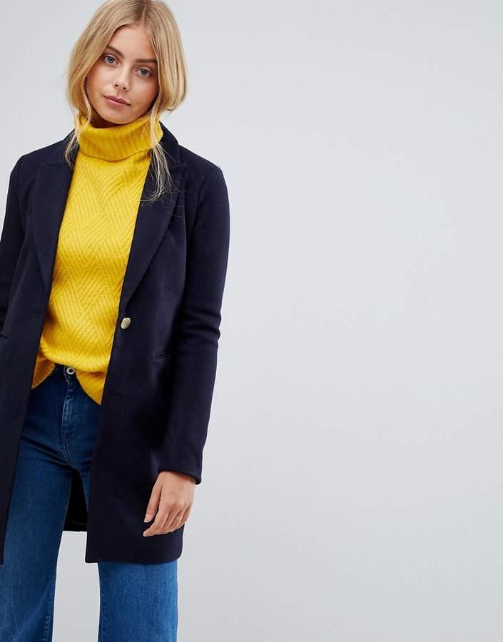 Lina Wool Blend Slim Coat