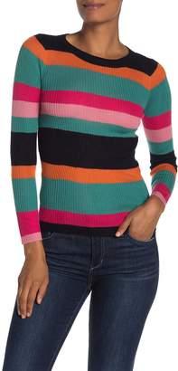 Cotton Emporium Striped Rib Knit Sweater