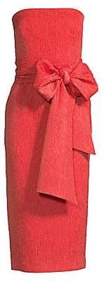 Rebecca Vallance Women's Francesca Tie Midi Sheath Dress - Size 0