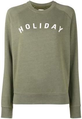 Holiday Khaki Logo Print Sweatshirt