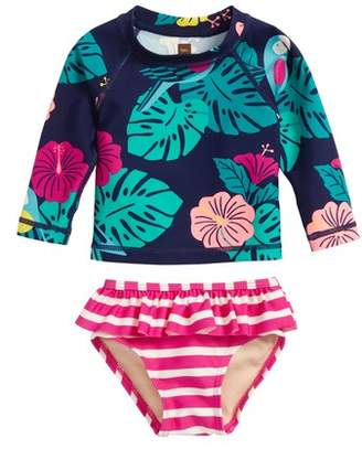 Tea Collection Mixed Print Two-Piece Rashguard Swimsuit