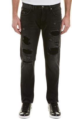 Helmut Lang 87 Destroy Black Skinny Leg