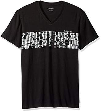 Calvin Klein Men's Short Sleeve V-Neck Graphic T-Shirts