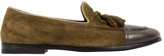 Alberto Fasciani Leather & Suede Loafers W/ Tassels