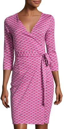 Diane von Furstenberg Julian Floral-Print Wrap Dress, Pink $279 thestylecure.com