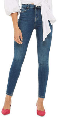 Topshop Green Cast Jamie Jeans 30 Inch Leg