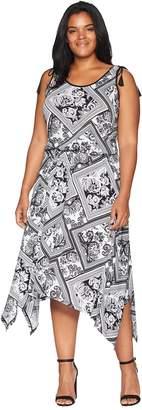 Lauren Ralph Lauren Plus Size Jersey Handkerchief Dress Women's Dress