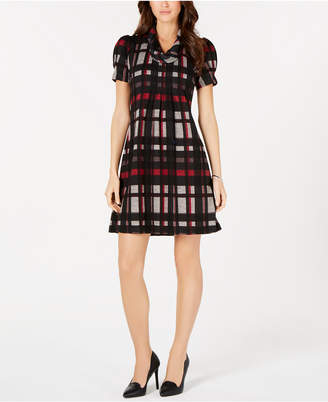 Jessica Howard Petite Plaid Sweater Dress