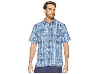 Tommy Bahama Bianco Bamboo Camp Shirt Men's Clothing