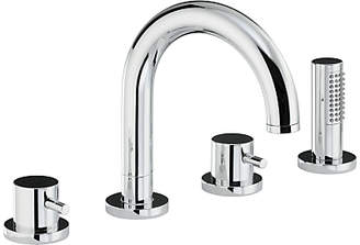 Abode Harmonie Thermostatic Deck Mounted 4 Hole Bath/Shower Mixer Tap