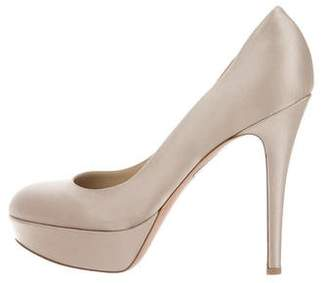 Gianvito Rossi Satin Platform Pumps w/ Tags