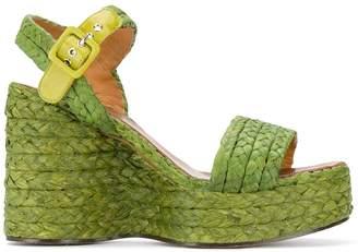 Clergerie Arum braided wedge sandals