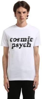 McQ Cosmic Psych Print Cotton Jersey T-Shirt