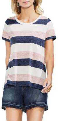 Vince Camuto Striped Pocket Tee