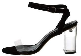 Raye Clear Ankle Strap Sandals