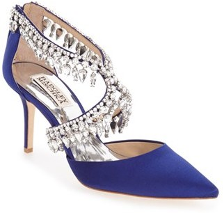 Women's Badgley Mischka 'Glamour' Crystal Embellished Pointy Toe Pump $255 thestylecure.com