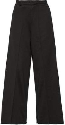 Golden Goose Sophie Satin-Trimmed Cady Wide-Leg Pants