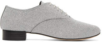 Repetto Silver Glitter Zizi Oxfords