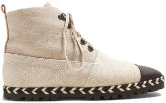 J.W.Anderson Espadrille canvas ankle boots