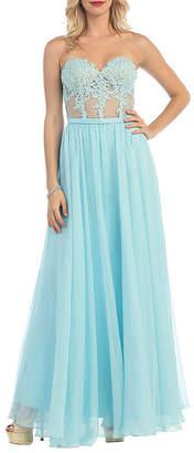 Asstd National Brand Strapless Sweetheart Pageant Dress