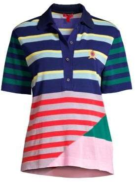Tommy Hilfiger Tommy Tommy Women's Striped Knitted Polo - Size Medium