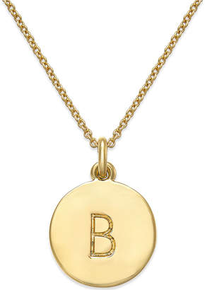 """kate spade new york 17"""" 12k Gold-Plated Initials Pendant Necklace $58 thestylecure.com"""