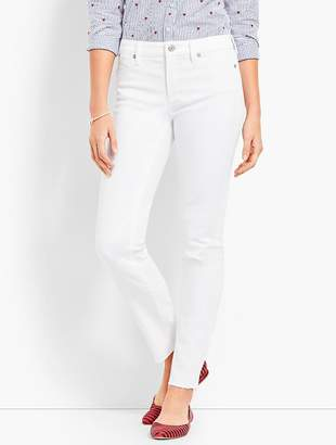 Talbots Patched Denim Slim Ankle - White