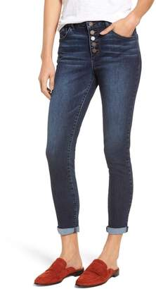 Wit & Wisdom Button Fly Ankle Skinny Jeans