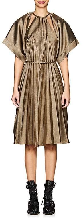 Women's Cutout Plissé Lamé Dress