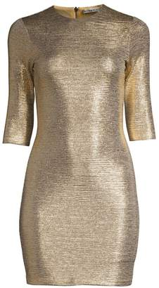Alice + Olivia Delora Metallic Mini Bodycon Dress