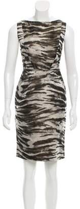 Lanvin Jacquard Silk-Blend Sheath Dress