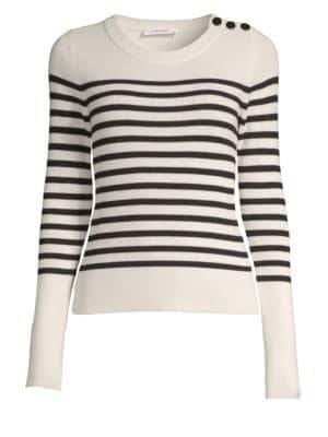 Frame Merino Wool Stripe Sweater