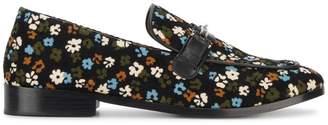 Newbark Melanie vintage floral print loafers