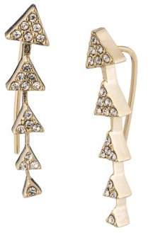 Lauren Ralph Lauren Geometric Climber Pave Crystal Earrings