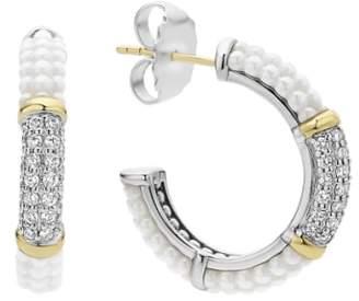 Lagos 'Black & White Caviar' Diamond Hoops