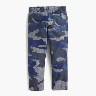 J.Crew Boys' chambray pull-on pant in camo