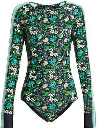 The Upside Floral-print performance paddle suit