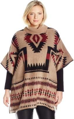 0cd208673fa at Amazon Canada · Lucky Brand Women s Plus Aztec Poncho