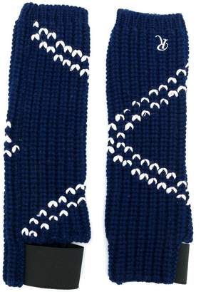 Raf Simons contrast knitted gloves