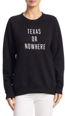 Knowlita Texas Or Nowhere Sweatshirt $95 thestylecure.com