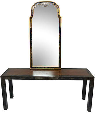 One Kings Lane Vintage Parson-style Chinese Console and Mirror - Madcap Cottage